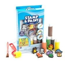 Kid Craft Animal Stamp and Paint Kit