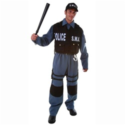 Deluxe Adult S.W.A.T. Police Officer