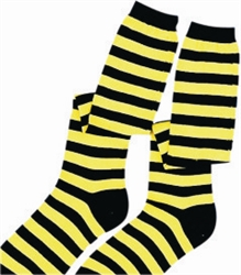 Black and Yellow Striped Knee Socks