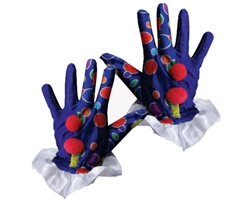 Blue Clown Gloves