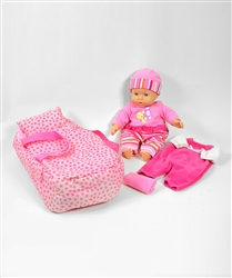 Baby 'n Fun New Born Baby Doll Care Set