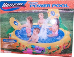 Banzai Flower power Pool Set with Cute and Cool Sprinkling Daisy