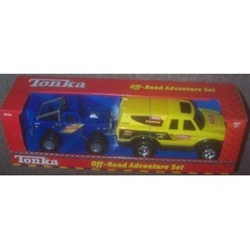 Tonka Off Road Adventure Set Yellow Pick up and Blue Off-Roader