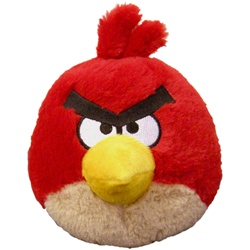 "Angry Bird 5"" Plush Red Bird with Sound"