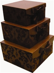 Brown Swirl Magnetic Boxes