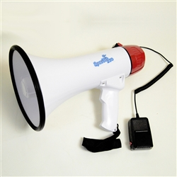 Sports Pro Professional 35W Megaphone/bullhorn with Siren and Handheld Mic