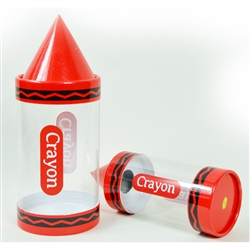 Red Crayon Shaped Gift Box