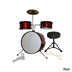 Rock Star 5 Piece Kids Drum Set- Red